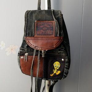 Handbags - Small denim Looney Tunes backpack